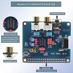 Geekworm Raspberry Pi 3 Model B+ DAC I2S Interface PiFi DIGI DAC+ HiFi  Digital Audio Sound Card + DAC+ Acrylic Case for Raspberry Pi 3 Model B+ /  3B /