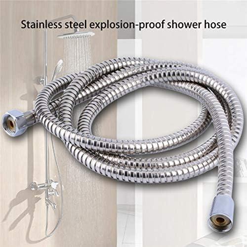 DF-FR Tuyau flexible de salle de bains en acier inoxydable de tube de douche de plomberie durable avec r/ésistance /à hautes temp/ératures couleur: argent