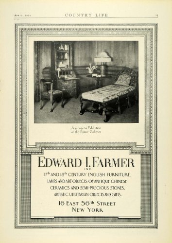 Periodpaper Llc Collectible Original Print Archive 1929 Ad Edward I Farmer Period English