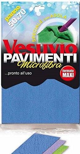 Panno Pavimenti Microfibra.Vesuvio Panno Pavimenti Microfibra 50x70 Con Asola Amazon