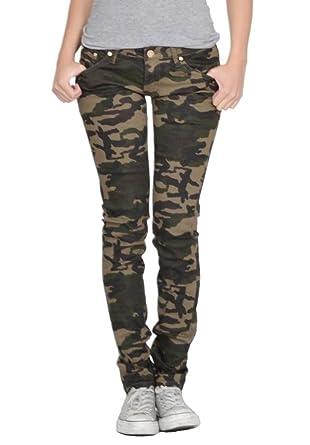 Army camouflage skinny stretch jeans - dark green  Amazon.co.uk ... 001de8863695