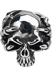 Size 10-Inox Jewelry 316L Stainless Steel Demon Claw Skull Ring