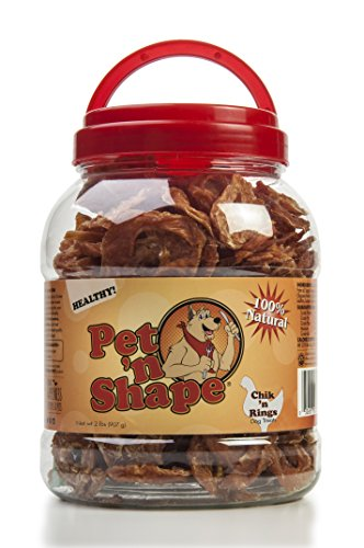 Beefeaters Chicken Tops (Pet 'n Shape - Chik 'n Rings - 100-Percent Natural Chicken Jerky Dog Treats Tub, 2-Pound)