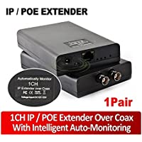 PoE Ethernet Extender Set Over Coaxial Cable (EoC) for IP Security CCTV Camera