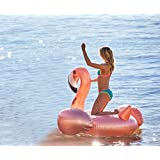 Ginkago Giant Inflatable Flamingo Pool Float Rose Gold Pool Party Lounger Swimming Pool Toys