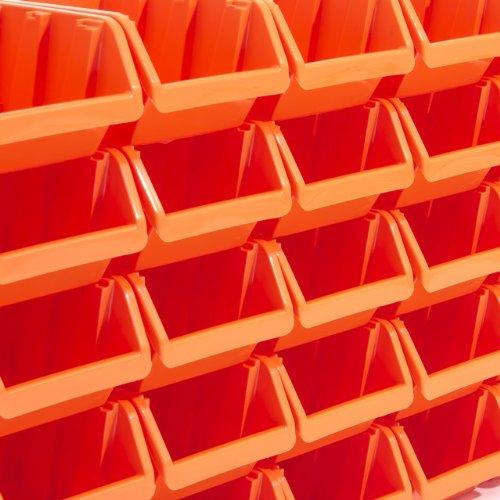arancione Box contenitore di stoccaggio sovrapponibile Inbox 19,5 x 12 x 9 cm misura 3 colore