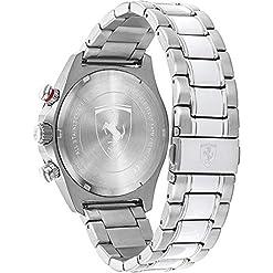 Scuderia Ferrari Homme Chronographe Quartz Montre avec Bracelet en Acier Inoxydable 830720 6