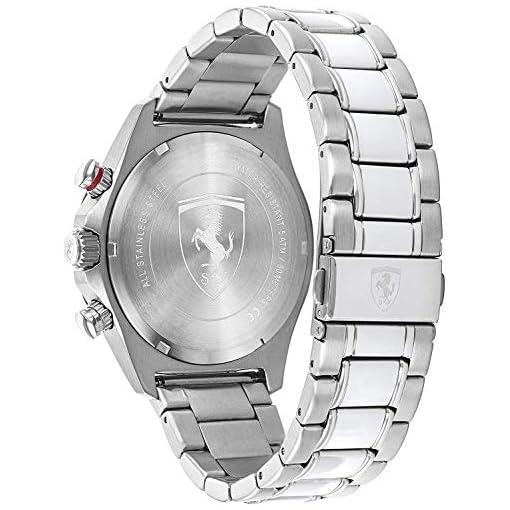 Scuderia Ferrari Homme Chronographe Quartz Montre avec Bracelet en Acier Inoxydable 830720 3
