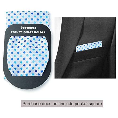 Jeatonge Pocket Square Holder Keeper Organizer Pocket Squares For Men Prefolded