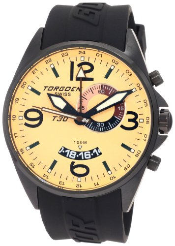 Torgoen Swiss Men's T30302 T30 Series Classic Black Aviation Watch