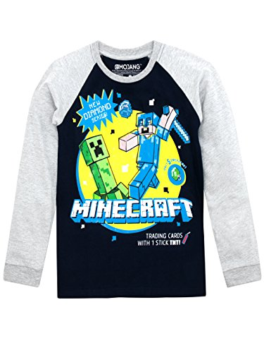 Minecraft Boys Long Sleeved Top Size -