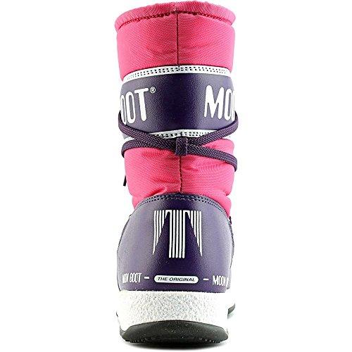 Moon Boot W.e. Sport Mid Jr, Zapatillas de Deporte Exterior Unisex Niños Rosa - bouganville/violett