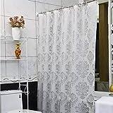 Der European Pastoral Style Foggy Translucent Matt Thickening EVA Bathroom Free Punching Shower Curtain Waterproof and Mildew Bathroom Accessories (Size : 180cm180cm)
