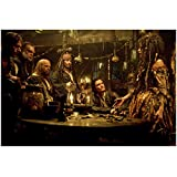 Pirates of the Caribbean: Dead Man's Chest 8 x 10 Photo Will Turner, Captain Jack Sparrow, Tia Dalma, Ragetti, Joshamee Gibbs, Pintel Around Table kn