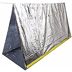 Emergency Shelter Tube Tents,ECVILLA All Weather Tube Tent, Reflective Material Conserves Heat, Lightweight, Waterproof Must-Have Outdoor Safety & Survival Gear for Hiking, Camping