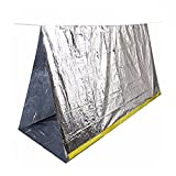 Emergency Shelter Tube Tents, ECVILA Survival Blankets, Sleeping Bag   Perfect for Outdoor Safety & Survival Gear (Silver Mylar)