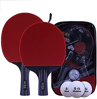 xianw Set de Mesa Ping Pong Padel - Pack de 2 paletas de Premium ...