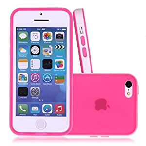 Cerise Soft Silicone Translucent Rubber Bumper Matte Gel Case Cover for Candy Case - iPhone 5C