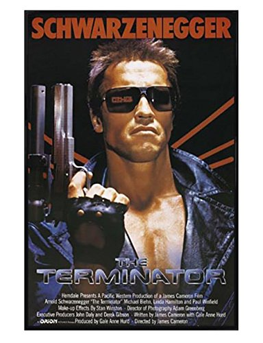 The Terminator Gloss Black Framed Arnold Schwarzenegger Poster 61x915cm