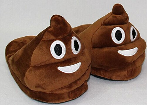 Yun Emoji Poop Slipper Poo Shoes Slides Slipper House Shoes Warm Winter Emoji Slipper for Women Man (Smiling Poop)