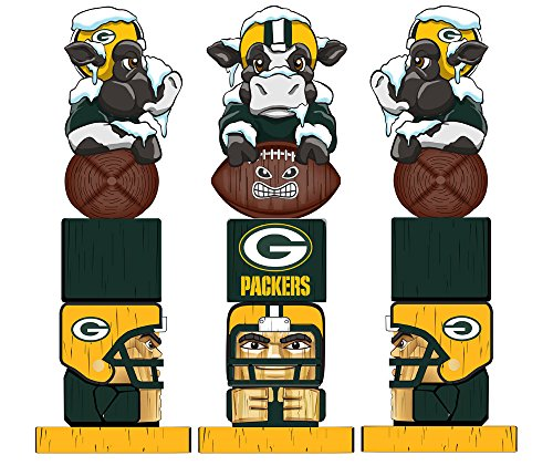 Team Sports America NFL Tiki Totems (16 Inches, Green Bay -