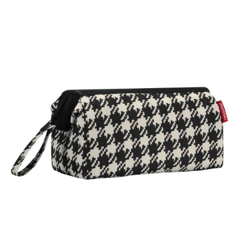 [Houndstooth Fifties Black Reisenthel Travel Cosmetics Bag.] (50s Make Up)