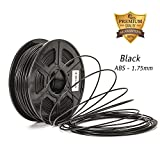 3D printer filament ABS Black ,abs 3d printer filament 1.75 Dimensional Accuracy +/- 0.02 mm ABS 3D Printing Filament 1.75MM,2.2 LBS (1KG) Spool 3D Printer Filament for Most 3D Printers & 3D Pens,