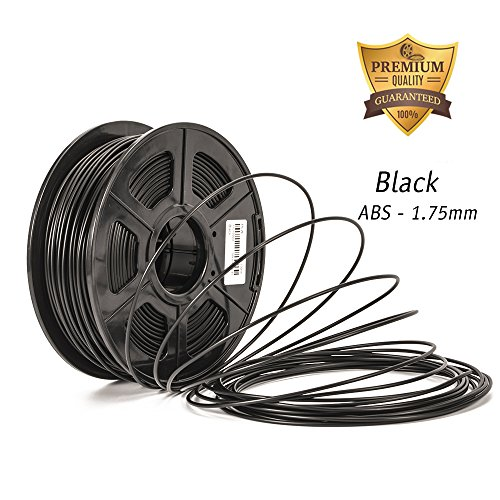 3D printer filament ABS Black ,abs 3d printer filament 1.75 Dimensional Accuracy +/- 0.02 mm ABS 3D Printing Filament 1.75MM,2.2 LBS (1KG) Spool 3D Printer Filament for Most 3D Printers & 3D Pens,