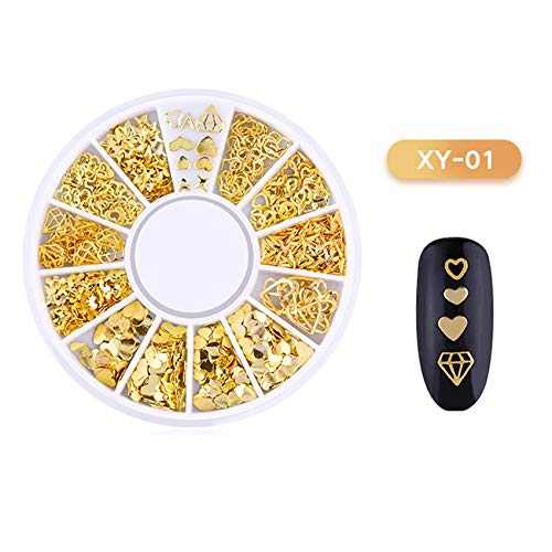 Nail Sticker 3D Ocean Nail Art Studs Gold Charms Summer Sea Metal Alloy Rivets Shell Starfish Hollow Star Decoration Nails X0425 A by DKjiaoso