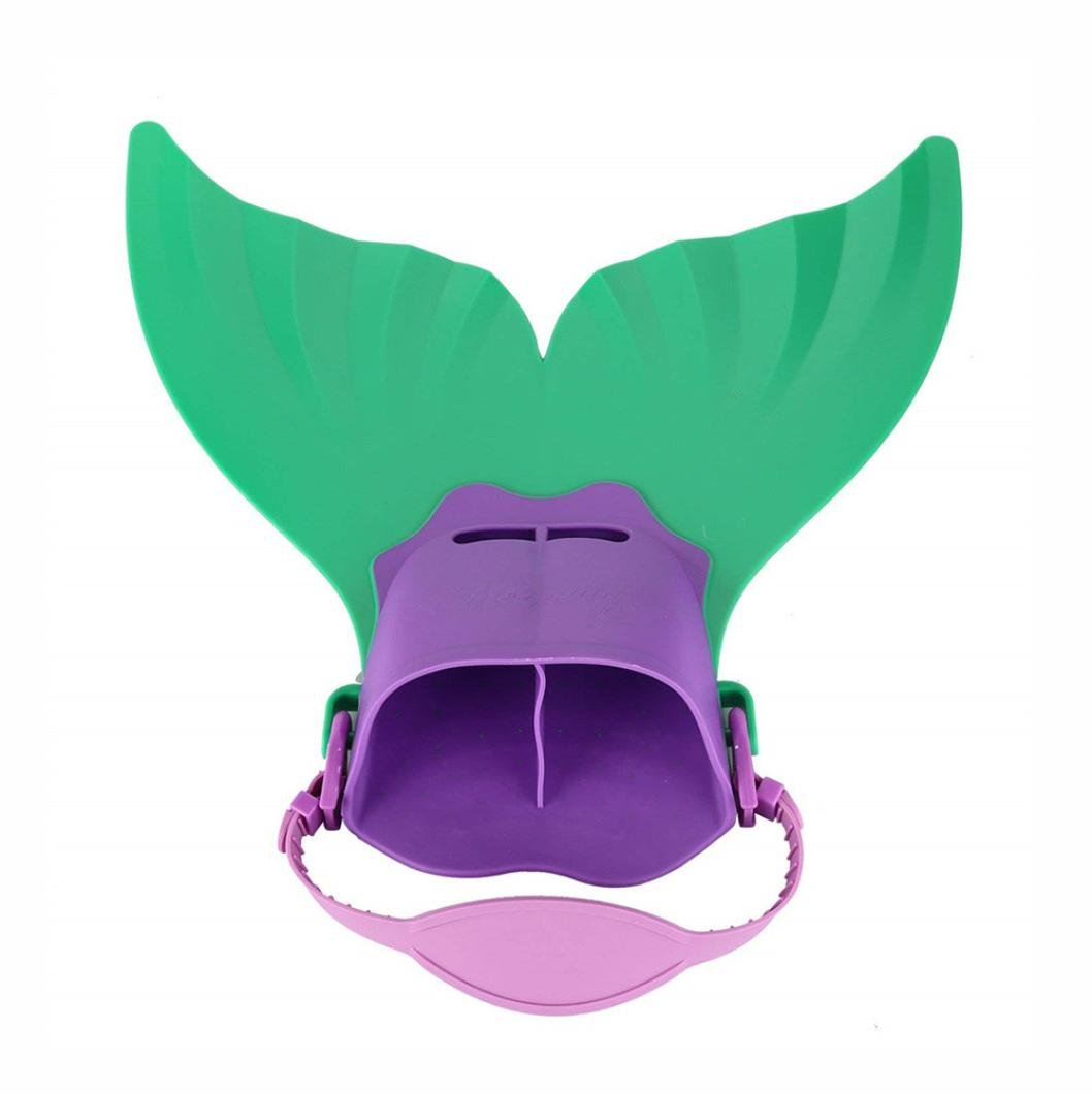 Dartphew Swimming Pool,Dartphew Safety Non-toxic Kids Mermaid Fin Mermaid Monofin Tail Flipper Swimwear For Adults Kids Baby Children(Training Tool For Freestyle Butterfly Backstroke) (Green)
