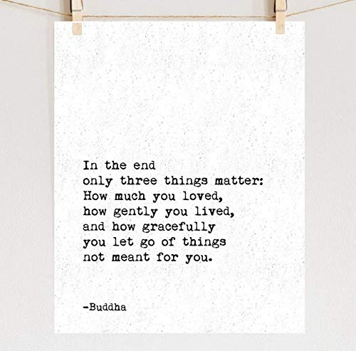 Buddha Print, Fine Art Zen Quote, Sizes 5x7-16x20 **Unframed** ()