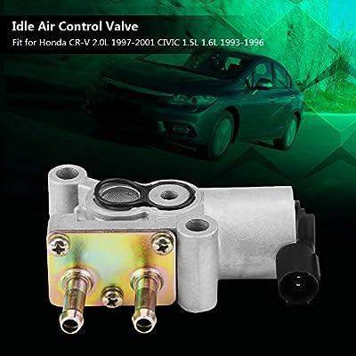 Qiilu Idle Air Control Valve IAC for Honda CR-V 2.0L 1997-2001 CIVIC 1.5L 1.6L 1993-1996 36450P0D004: Automotive