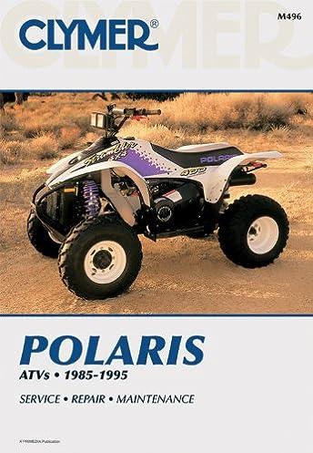 polaris atv shop manual 1985 1995 clymer all terrain vehicles rh amazon com 2000 Polaris Trailblazer Starter Polaris Trailblazer Parts List