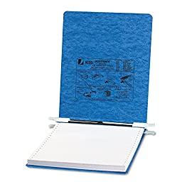 Pressboard Hanging Data Binder, 9-1/2 x 11 Unburst Sheets Color: Light Blue