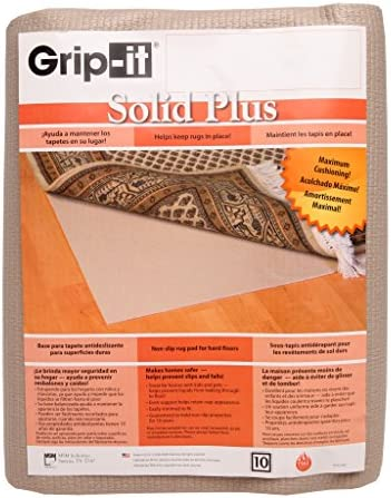 Grip-It Cushioned Non-Slip Rug Pad for Rugs on Hard Surface Floors, 8 by 10-Feet