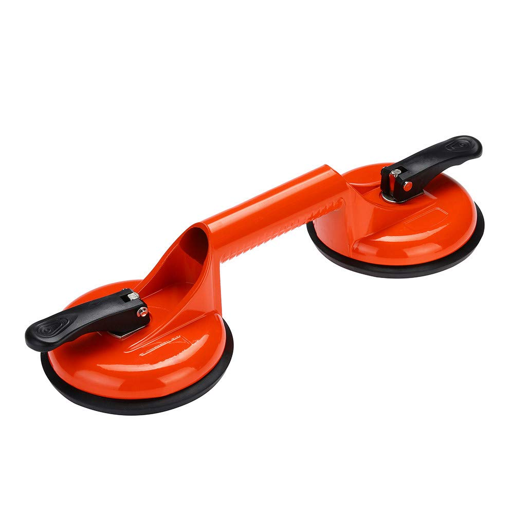 Sacow Glass Sucker Aluminum Suction Lifter, Glass Vacuum Lifter Holder 105kg with 2 Suction Cups