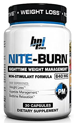 BPI Sports Nite Burn Nighttime Weight Management Formula, 30-count