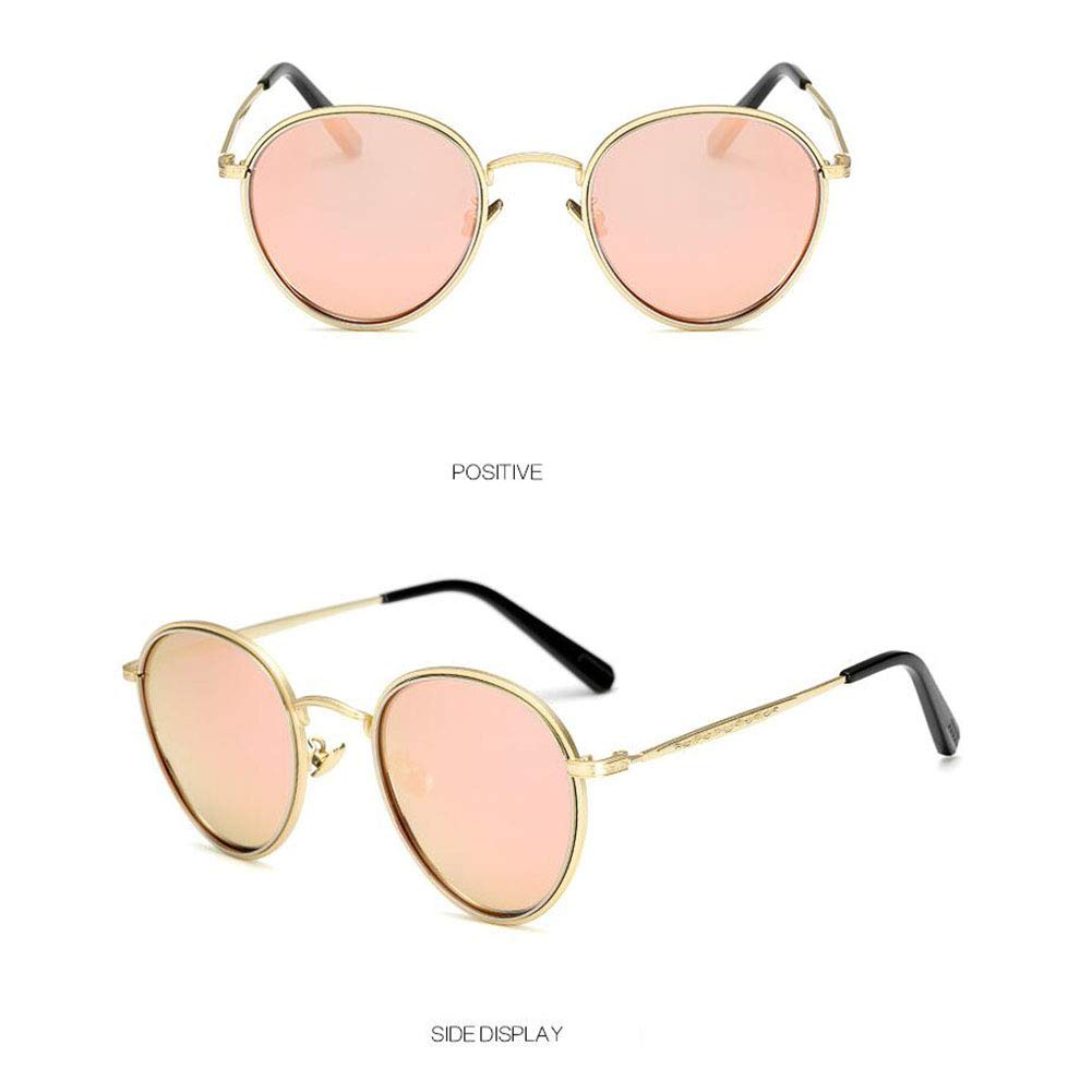 C Polarized Sunglasses, Metal Retro Round Sunglasses Men and Women Full Frame Sunglasses, Outdoor Sports Cycling