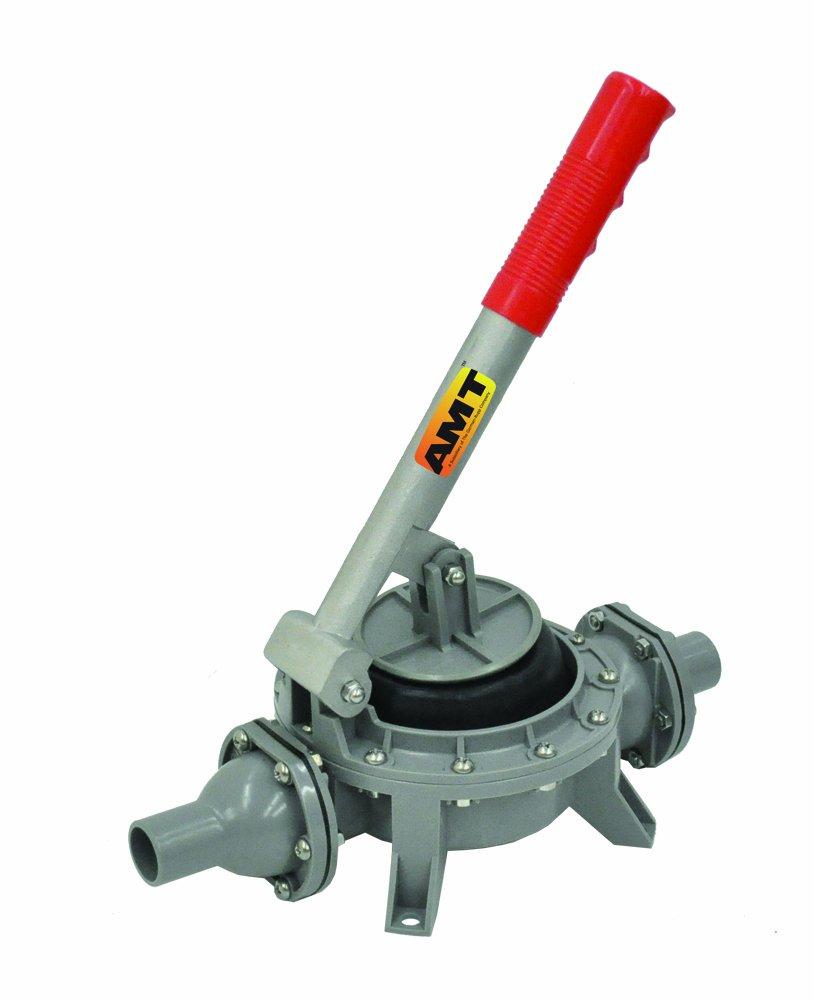 AMT Pump HP01-99 Hand Diaphragm Pump, Plastic, 1'' Smooth Hose Inlet/Outlet