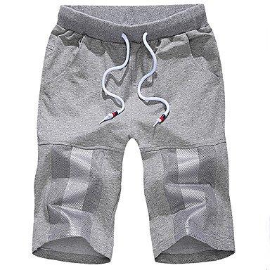 Men Pants Herren Einfach Mittlere Hüfthöhe Micro-elastisch Kurze Hosen Lose Hose einfarbig