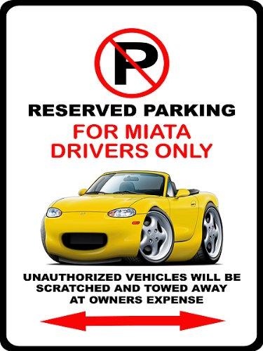 Sign Maroon Parking (1999-05 Mazda Miata Exotic Car-toon No Parking Sign)
