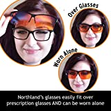 Blue Light Blocking Computer Glasses - FIT OVER Reading - Gaming Set - To SLEEP BETTER Wear Orange Lens at Night for Insomnia - Anti Glare for Migraine, Headache, Eye Strain Relief - Men, Women, Gamer