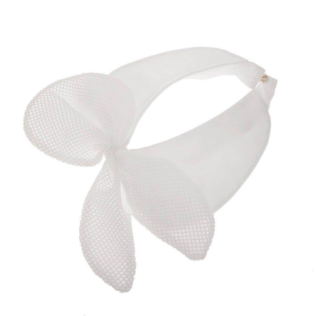 Phenovo Donna Camicia Bow Colletto Collare Bavero Staccabile Bianco