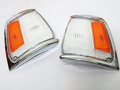 89-95 Toyota Hilux Ln85 5th Gen 2wd Chrome Corner Light Indicator Pair New 90 91 92 93 94