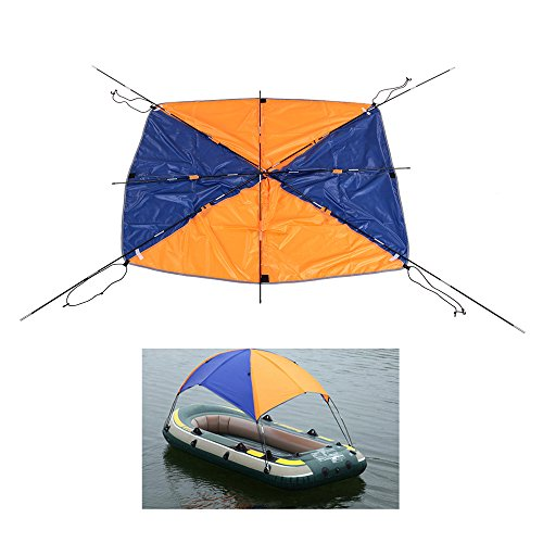 Inflatable Sailboat (Lixada 4-person Inflatables Boat Sun Shelter Sailboat Awning Top Cover Fishing Tent Sun Shade Rain Canopy for Seahawk Inflatable Kayak Canoe Boat Top Kit with Hardware)