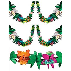 3 Piece Tissue Flower Garlands (Each is 9 feet) 7