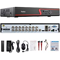 Faittoo H.264 16CH 1080N AHD DVR Hybrid AHD+HVR+TVI+CVI+NVR 5-in-1 Security System Realtime Standalone CCTV Surveillance Onvif P2P Quick QR Code Scan w/ Easy Remote View HDMI/VGA Output (NO HDD)