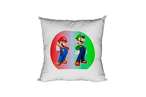 JEMASHOP COJIN 40x40 cm Mario Bros 05. Luigi.: Amazon.es: Hogar