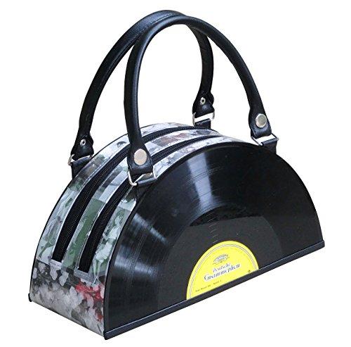 Vinyl record handbag - FREE SHIPPING - handmade bag bags for choir singer musician violin piano music lover player Fair trade fun presents inspiring alternative ideas functional beautiful (Fair Album)