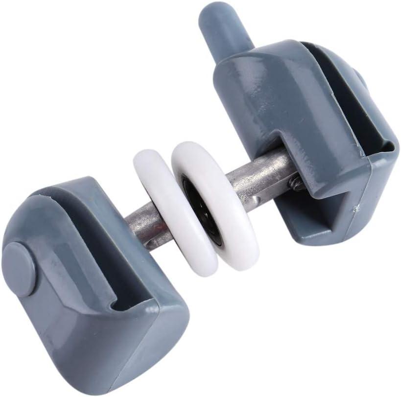 Double Wheel 25 mm Nimoa 8 Piezas Ruedas de Rodillos para Puertas de Ducha Poleas de Corredores para Piezas de Repuesto para Puertas de ba/ño